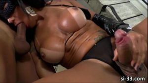 Lusty Brazilian TS Nathany Gomes gets ass ramme...